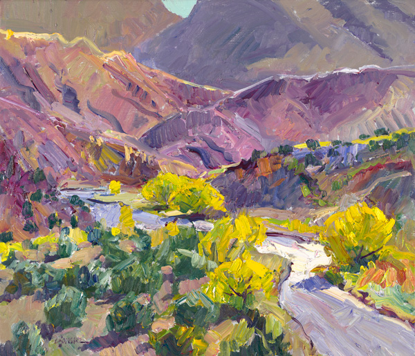 Walt Gonske, Fall Color on the Rio Chama, 24 x 48.