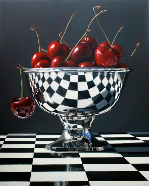 Daryl Gortner, Beautiful Bings, oil, 60 x 48.