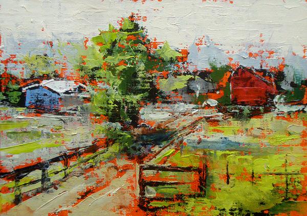 Bill Guffey, Masonville, Colorado, oil, 5 x 7.