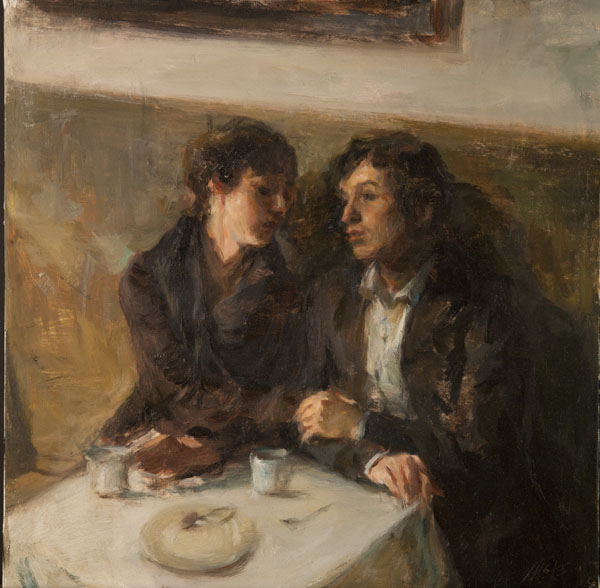Ron Hicks, And Then, They Exhaled, oil, 16 x 16.