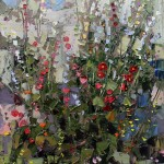 Robert Moore | Hollyhock, oil, 20 x 16.