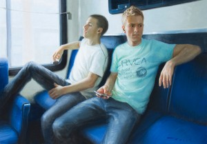 McGarren Flack, iConnected, oil, 28 x 40.