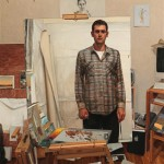 Daniel Robbins, In the Studio, oil, 42 x 38.