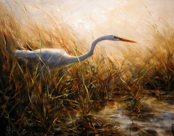 Ralph James, Silent Stalk, oil, 24 x 30.