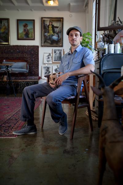 Joseph Todorovitch at his art studio in Pomona, CA.