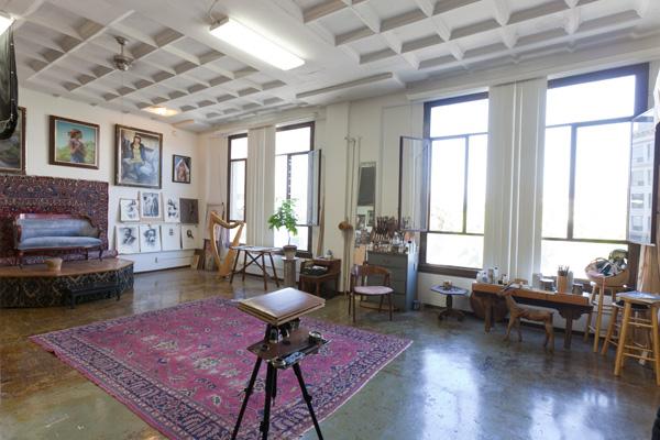 Joseph Todorovitch's art studio in Pomona, CA.