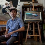 Joseph Todorovitch at his art studio in Pomona, CA.