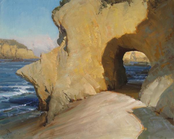 Josh Clare, Keyhole Rock, oil, 24 x 30.