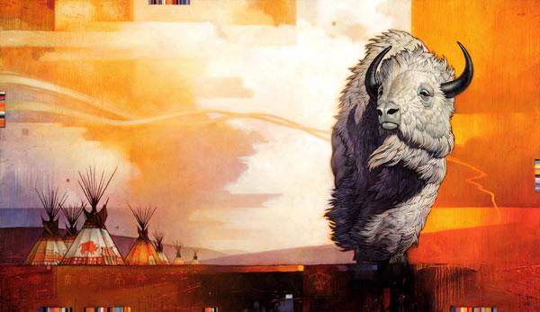 Dawn of Peace, oil, 35 x 60.