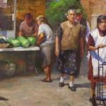 Miguel Malagon, La Villita, oil, 20 x 30.