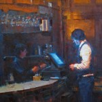 Jennifer McChristian, Closing the Tab, oil, 24 x 18.