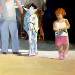 Peggy McGivern, Her First Pony, oil, 40 x 46.