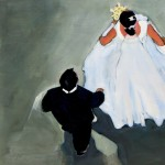 Peggy McGivern, The Wedding Procession II, mixed media, 12 x 12.