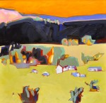 Peggy McGivern, Trailers and Mobile Homes, oil, 24 x 24.