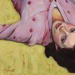 Michael Blessing, Sunday Morning, oil, 12 x 20.