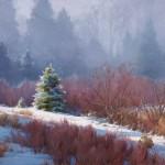 Chris Morel, Morning Mist, oil, 30 x 40.