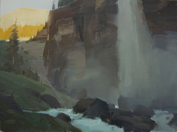 Robert Lemler | Near Telluride, oil, 12 x 16.