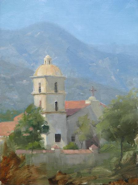 Dave Santillanes, Ojai, oil, 12 x 9.