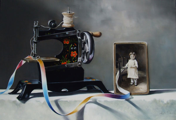 Arleta Pech, Ribbon of Time, oil, 14 x 20.