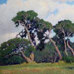 Noe Perez, Dancing Oaks, oil, 40 x 30.