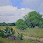 Noe Perez, Mesquite Country in Spring, oil, 25 x 35.