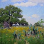 Noe Perez, South Texas Flowers, oil, 30 x 40.