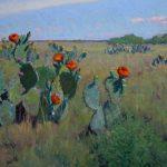 Noe Perez, Spring Colors, oil, 24 x 48.