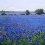 Noe Perez, Wildflowers, oil, 20 x 30.