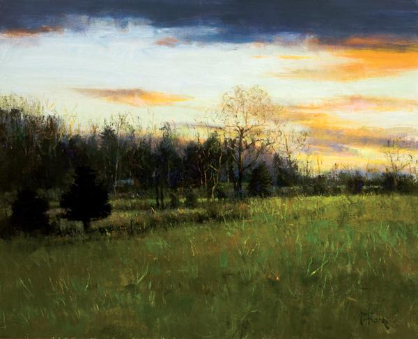 Peter Fiore, Golden Twilight, oil, 24 x 30.