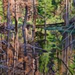 Sascha Ripps, Nature's Filagree, oil, 24 x 48.