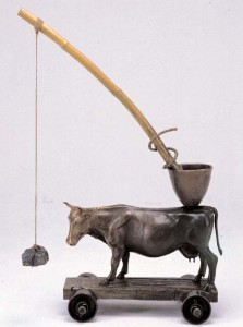 BRAD RUDE, WHAT'S OUT THERE, BRONZE, 41 X 28 X 15.rude2