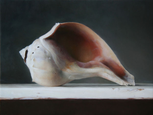 Conch Shell, oil, 9 x 12.