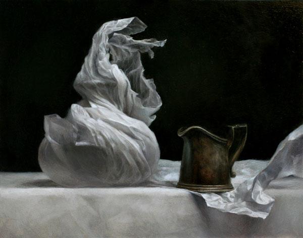 Wax Paper II, oil, 11 x 14.