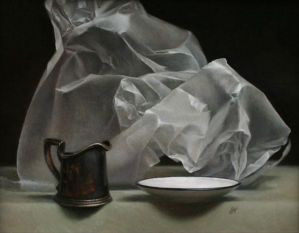 Wax Paper I, oil, 11 x 14.