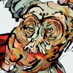 Amy Ringholz, Screech, ink/oil, 36 x 60.