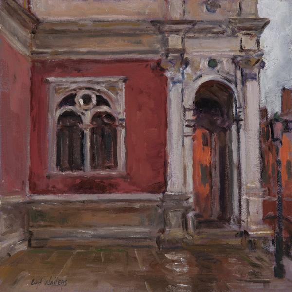 Curt Walters, Scuola Grande di San Rocco, oil, 12 x 12.
