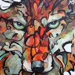 Amy Ringholz, Sightline, ink/oil, 48 x 36.