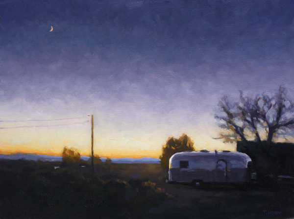 Timothy Horn, Silver Moon, oil, 12 x 16.