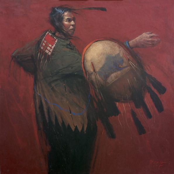 Mike Larsen, Society of the Ten Bravest, acrylic, 48 x 48.