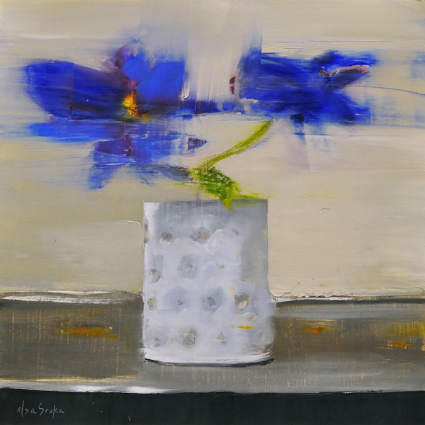 Elsa Sroka, Flora I, oil, 10 x 10.