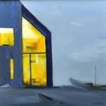 Elsa Sroka, Lights On, oil, 12 x 14.