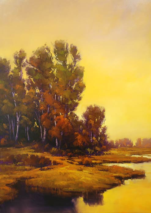 Gregory Stocks   Standing Strong, oil, 84 x 60.