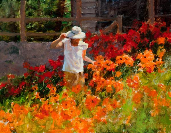 Cheryl St. John, Perfect Petals, oil, 11 x 14.