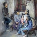 Mary Qian, Storytime, oil, 20 x 16.