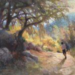 Margaret Larlham, Golden Hour, soft pastel, 18 x 24.
