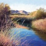 Gretha Lindwood Blitzen River At The P Ranch, pastel, 9 x 12.