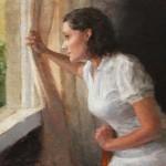 Melissa Gann, She'll Not Wait, oil, 12 x 16.