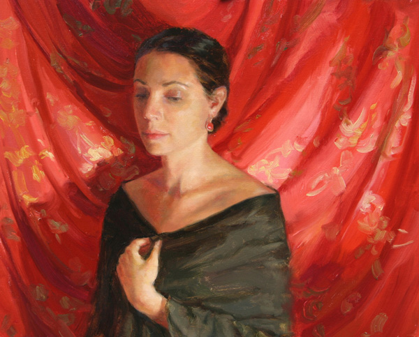 Melissa Gann, Angelica, oil, 16 x 20.