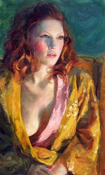 Melissa Gann, Ardent, oil, 12 x 20.