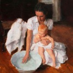 Melissa Gann, Gentleness, oil, 9 x 12.